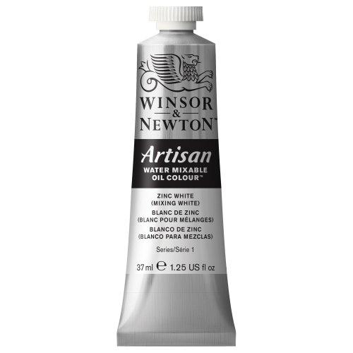Winsor & Newton Artisan Water Mixable Oil Colour Paint, 37ml tube, Zinc White (Mixing White)