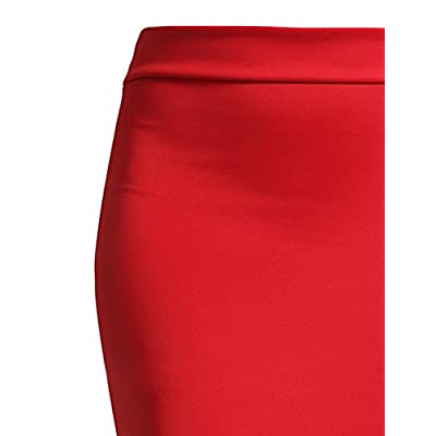 NE PEOPLE Women's Stretch Knit Bodycon Mini Pencil Skirt Made in USA at Women's Clothing store