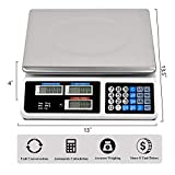 Cchainway 66LB Digital Price Scale Electronic Price Computing Scale LCD Digital Commercial Food Meat Weight Scale, Upgraded Version