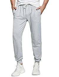 Men's Sweatpants Cotton Jogger Pants with Pockets Casual Loose Fit Athletic Drawstring Training Pants