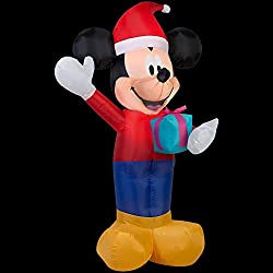 Christmas Holiday Mickey Mouse Airblown Inflatable