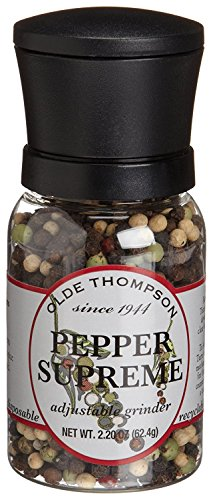 - Olde Thompson 1040-03 Disposable Spice Grinder, 2.2 Ounce Pepper Supreme
