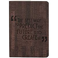 """Doodle Writing Tomorrow Today Small Pocket Size Corporate/Executive Diary Notebook, PU Leather, Soft Cover, 80 GSM, 200 Ruled Pages, (5.5"""" X 4"""" Inches) (Dark Brown)"""