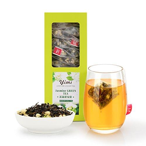 Chinese Green 30 Bag - Yimi Jasmine Green Tea, Premium Jasmine Flower Green Tea Organic Chinese Weight Loss Herbal Tea, Biodegradable Tea Bags, 5.6 Oz, Pack of 20, Thanksgiving Gifts