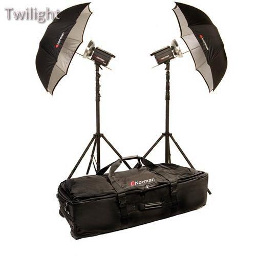 Norman Monolight - Norman 2 Monolight Umbrella Travel Kit (120VAC)