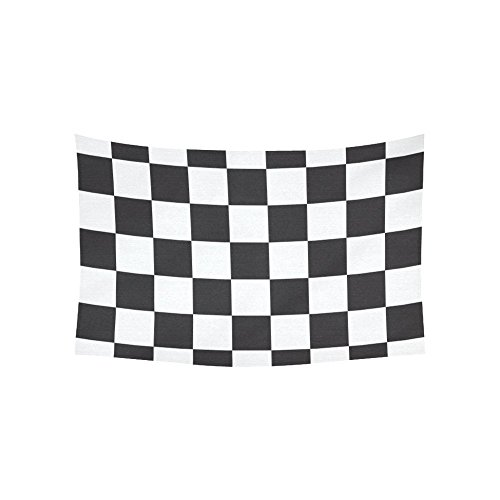 Cotton Dress Checker - JC-Dress Wall Tapestry Checkerboard Squares Cotton Linen Tapestries Hanging 40x60