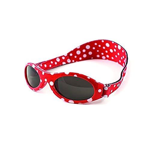 9623db764bd42a Yoccoes Paquet Cadeau Lunettes de Soleil Polka Dot Rouge Baby BANZ 0-2 Ans  Et