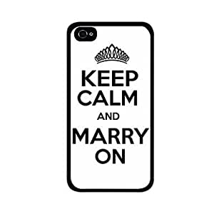 JOE KEEP CALM AND MARRY ON Pattern Plastic Hard Case for iPhone 4/4S