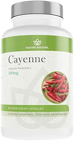 Cayenne Pepper Extract Supplement, Standardized to 0.45 Percent Capsaicin, 70,000 Scoville Heat Units, 90 Capsules, Manufactured in USA, Non-GMO Gluten Free