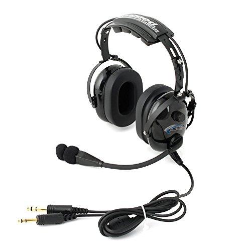 General Aviation Headset (Rugged Air RA900 Black General Aviation Stereo Pilot Headset with Flex Boom)