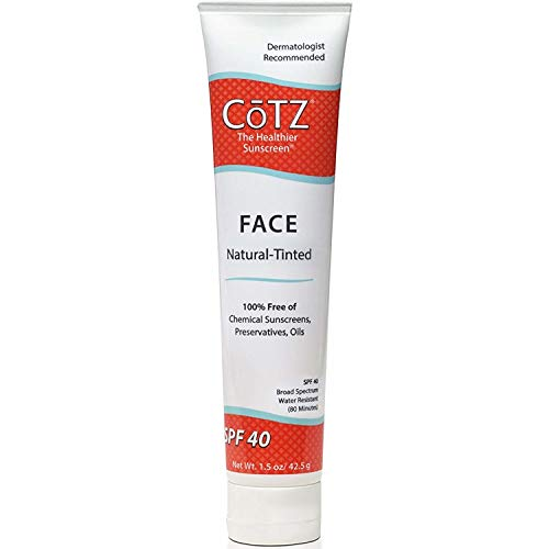 Cotz Face Natural SPF 40 Skin Tone Lotion 1.5 OZ (PACK OF 2)