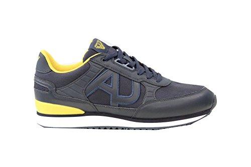Armani Jeans - Zapatillas de Lona Para Hombre Azul Azul Marino