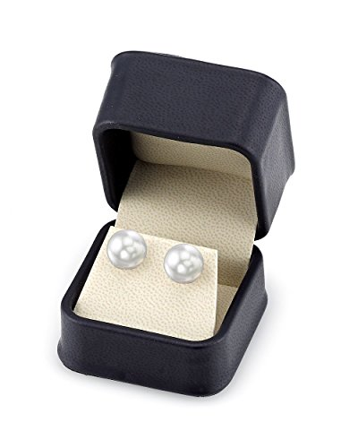 14K Gold 11-12mm White South Sea Cultured Pearl Stud Earrings - AAA Quality by The Pearl Source (Image #2)