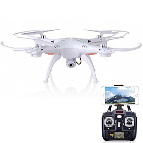 Syma-X5SW-Explorers2-24G-4CH-6-Axis-Gyro-RC-Headless-Quadcopter-with-2MP-HD-Wifi-Camera-FPV-White-Fpv-drone