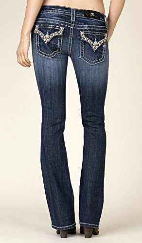 Miss Me No Boundaries Boot Cut 30 Dark Blue by Miss Me