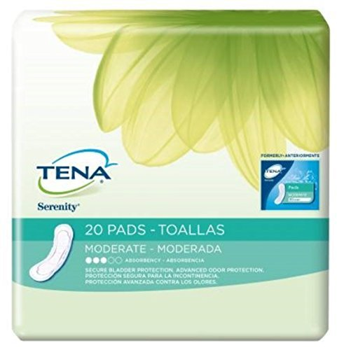 Tena Serenity Bladder Control Pads Moderate Absorbency/Regular/Case of - Pads Serenity Tena Extra Plus