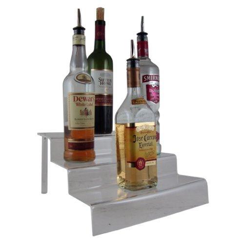 [Acrylic Liquor Bottle Shelves - Clear 3 Tier 12 inches] (Tier Liquor Bottle Shelf)