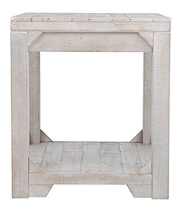 Ashley Furniture Signature Design – Fregine End Table – Farmhouse – White Wash