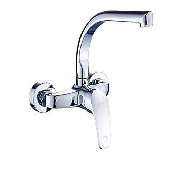 WTL Wasserhahn Alle Kupfer In Die Wand Küche Wasserhahn Hot And Cold  Einhand Waschbecken Waschküche