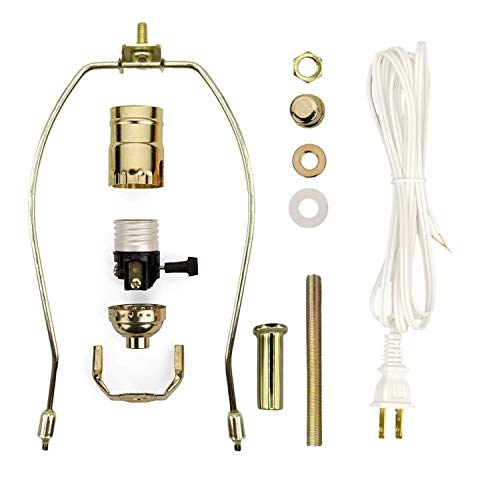 Creative Hobbies Make-A-Lamp Kit #ML3-12S Complete Lamp Parts Kit with - Kit Lamp Hardware