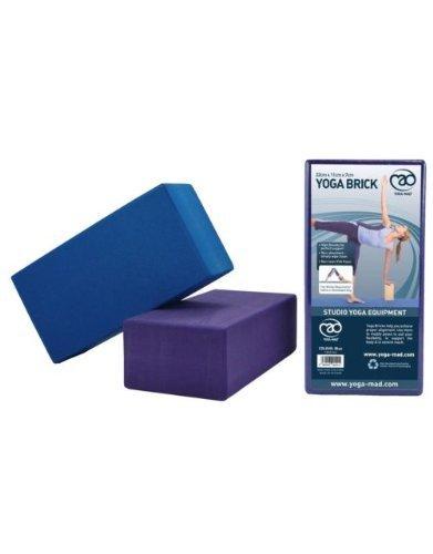 Amazon.com : Yoga-Mad Hi density Yoga Brick - Blue by Yoga ...