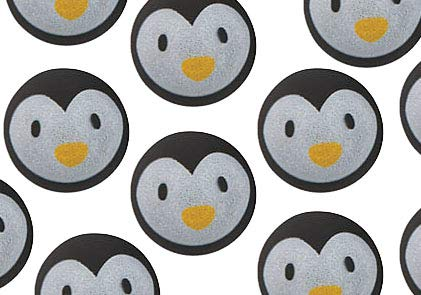 - Bulk 12 Penguin Bouncy Balls - Cute Winter Party Supplies Favor Set - 1 Dozen