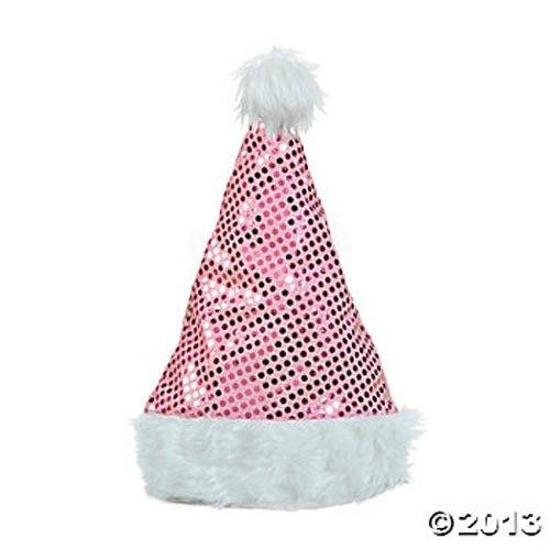 Christmas Pink Sequin Santa Hat!