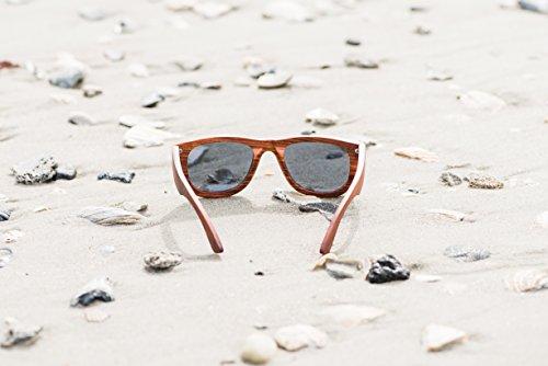 Real Sandalwood Sunglasses Wooden Wayfarer Design Polarized Lenses with Gift Box by Viable Harvest