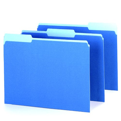 Pendaflex 421013blu Pendaflex Interior File Folders 1 3 Cut Top Tab Letter Blue 100 Box
