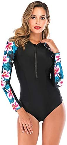 女性のウェットスーツ長袖のセクシーなスポーツサーフィン水着ワンピースサーフィンダイビングスーツを印刷