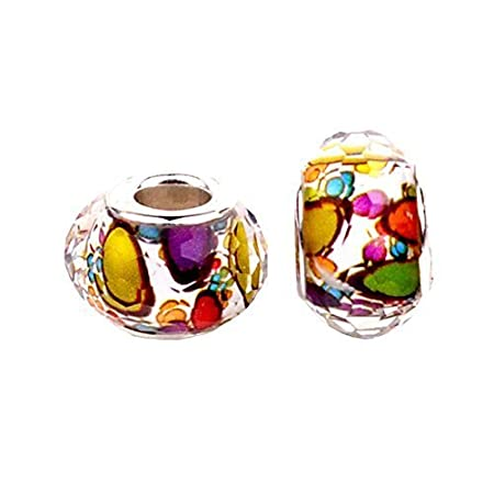 Bling Stars Murano Glass Crystal Fascinating Facet Beads Spacers Birthstone Solid Core Charm Fit Pandora Bracelets O1Hc5Tqac