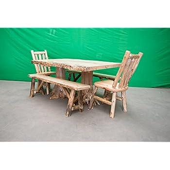 Astonishing Amazon Com Midwest Log Furniture Rustic Pine Log Dining Download Free Architecture Designs Embacsunscenecom