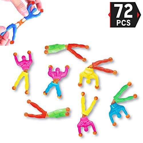 Climber Wall (Liberty Imports Sticky Wall Climber Window Crawler Climbing Men Novelty Toys for Party Favor Kids, 72 PCS)