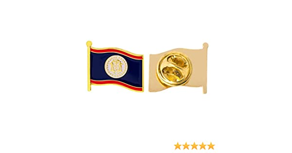 Country of Belize Waving Flag Lapel Pin Made of Metal Souvenir