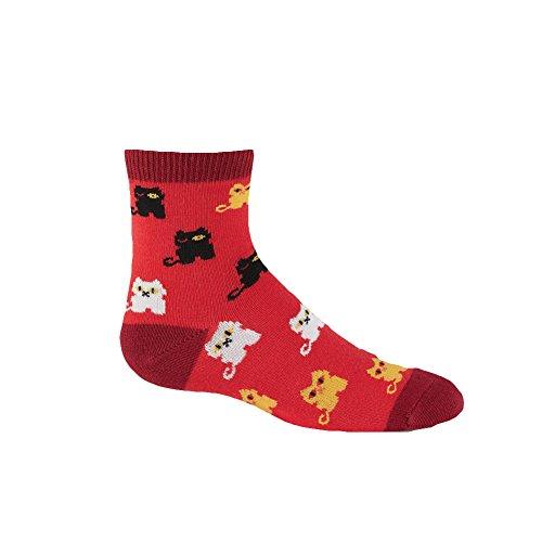 (Sock It To Me, Winking Cat, Junior Crew Socks, Kitty Cat Socks)