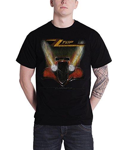 ZZ Top Eliminator Vintage Car Distressed Official Mens New Black T Shirt