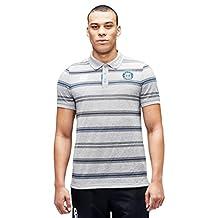2016-2017 Bath Rugby Stripe Polo Shirt (Grey Marl)