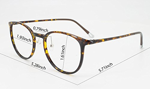 EyeYee - Monture de lunettes - Femme marron écaille de tortue Taille unique