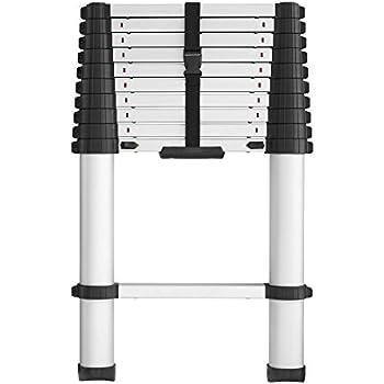 Cosco 20311t1ase Smartclose Telescoping Aluminum Ladder