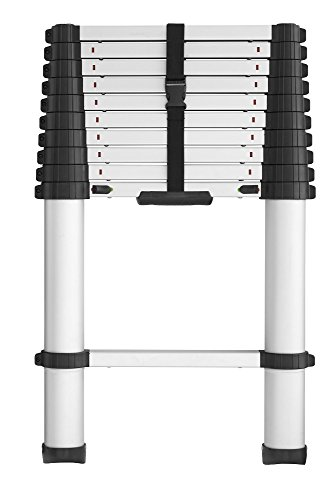 Locking Ladder (COSCO 20311T1ASE SmartClose Telescoping Aluminum Ladder with Pinch-Free, Soft-Close Locking Mechanism (300-Pound Capacity, 10.5 ft. ladder with 14 ft. Max Reach))