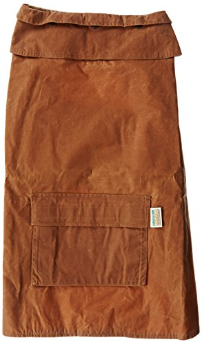 Handsome Hounds Wax Cotton Dog Rain Coat, XX-Small, Antique Brown by Handsome Hounds