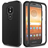 Moto E5 Cruise Case, Moto E5 Play Case AMENQ 3 in 1 Hybrid Heavy Duty Shockproof with Rugged Hard PC and TPU Bumper Protective Armor Phone Cover for Motorola Moto E Play (5th Gen) 2018 (Black)