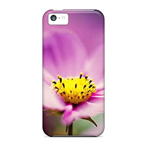 Premium Iphone 5c Case - Protective Skin - High Quality For Purple Cosmos Flower