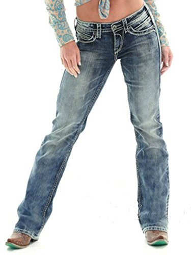 Embroidered Bootcut Womens Jeans - 3