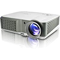 EUG Home Theater Projector HD 1080p Support 2500 Lumen HDMI USB SD VGA AV Audio for DVD Player Xbox PS3 TV Video Projector iPad iPhone ,Keystone Correction ,built-in Speakers