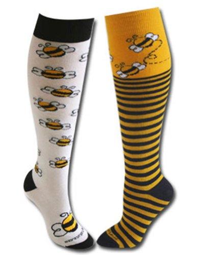Bee and Stripe Socks Yellow/Black M/L