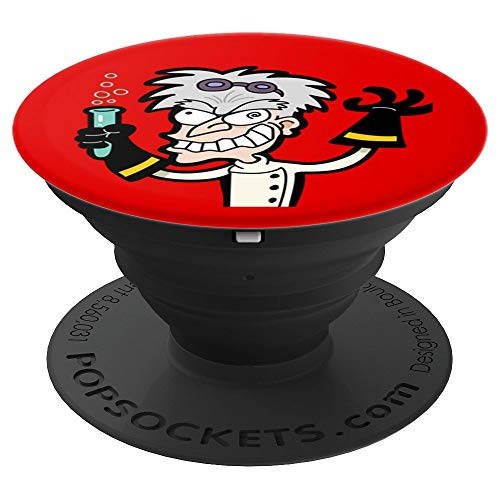 Mad Scientist Nerd Science Chemistry Funny - PopSockets Grip and Stand for Phones and -