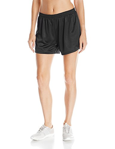 Hanes Women's Sport Mesh Short, Black, Large