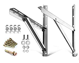 ZHOUWHJJ Mounting Bracket for 9000-24000BTU Condenser Ductless Mini Split Air Conditioner Heat Pump Systems, Rust Free Stainless Steel