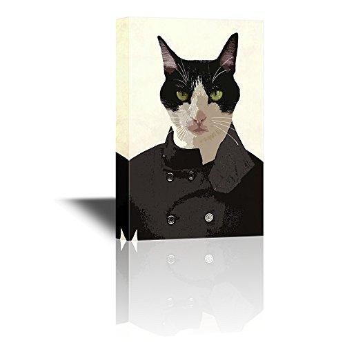 Mr Animal Series Mr Black Cat Wearing a Black Shirt